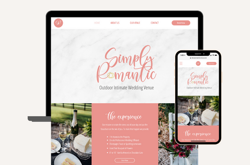 Create and Collab Web Design Project for Simply Romantic