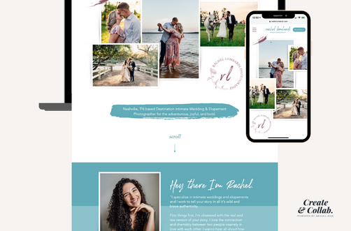 Create and Collab Web Design Project for Rachel Lombardi