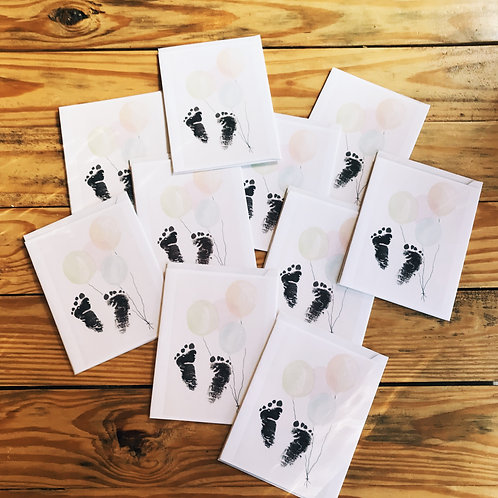 Newborn Watercolor Card Set of 10