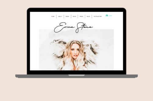 Create and Collab Web Design Project for Erica Stone