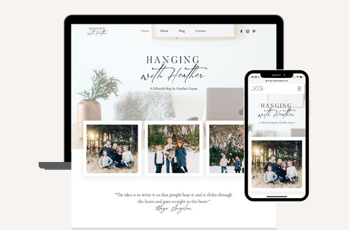 Create and Collab Web Design Project for Hanging with Heather