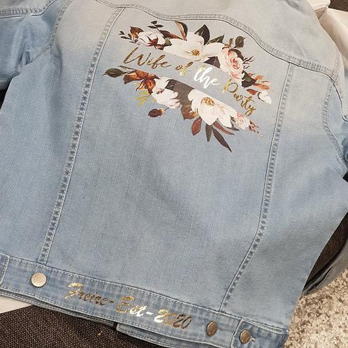 Personalised custom printing. (customer supplied jacket) Printing from $50