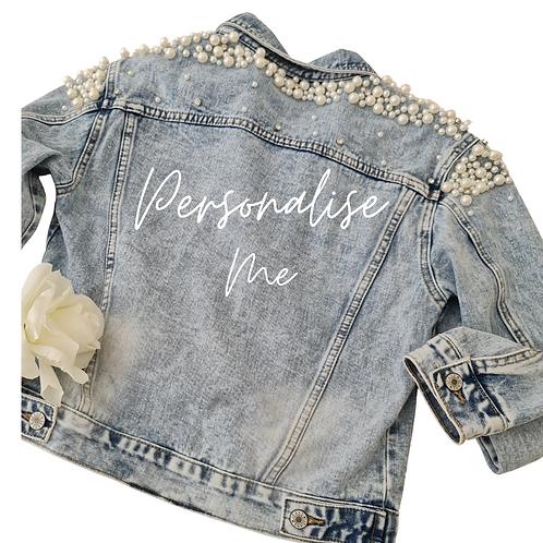 Pearl encrusted Denim Jacket