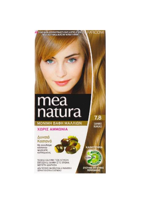 Mea Natura Νο 7.8 Ξανθό Κακάο Βαφή Χωρίς Αμμωνία
