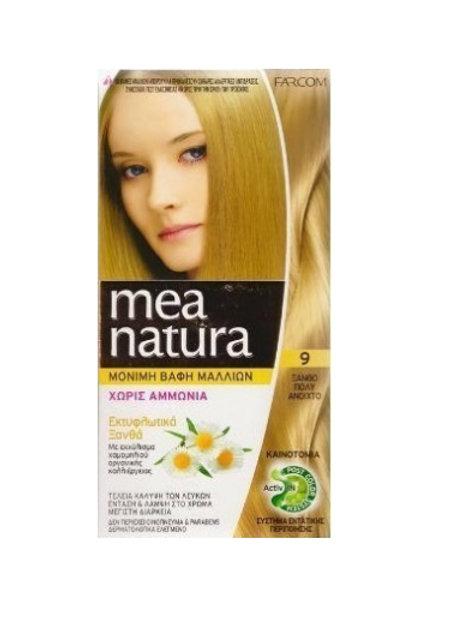 Mea Natura Νο 9 Ξανθό Πολύ Ανοιχτό Βαφή Χωρίς Αμμωνία