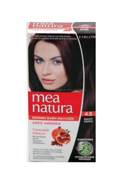 Mea Natura Νο 4.5 Ακαζού Σκούρο Βαφή Χωρίς Αμμωνία