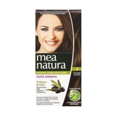 Mea Natura Νο 3 Καστανό Σκούρο Βαφή Χωρίς Αμμωνία