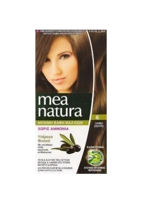 Mea Natura Νο 6 Ξανθό Σκούρο Βαφή Χωρίς Αμμωνία