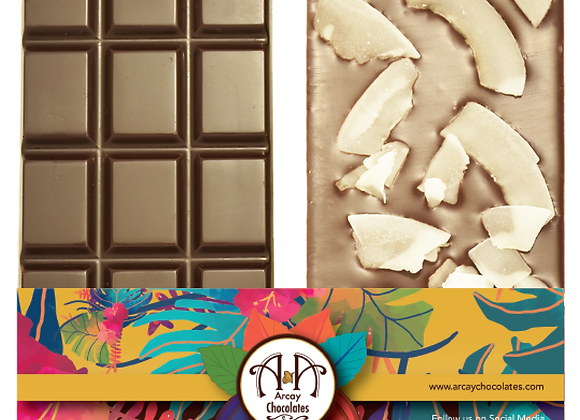 Dark Chocolate 70% Bar Coco Flakes