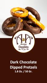 Dark Chocolate Dipped Pretzels