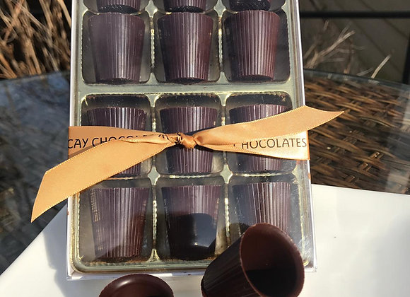 Chocolate Shots For Liquor and Wine Pairing