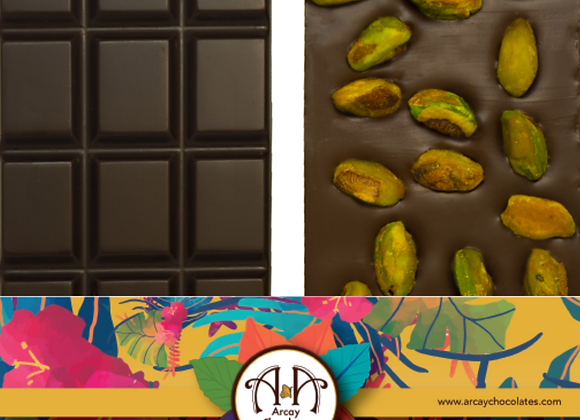 Dark Chocolate 70% Bar Pistachio & Sea Salt