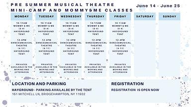 Pre summer schedule
