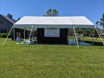 Little Barn Dance Tent at Hayground
