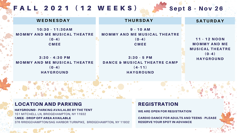 Fall Schedule with Little Barn