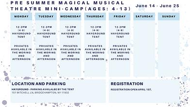 Pre Summer Schedule 2021