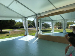 Our beautiful tent is up from April till November at Hayground, Bridgehampton
