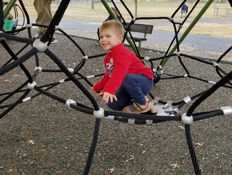 Toddler on the playground
