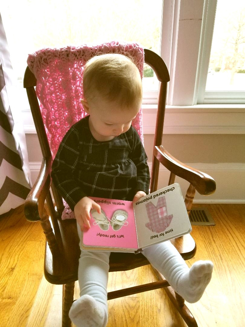 Toddler with touch and feel book