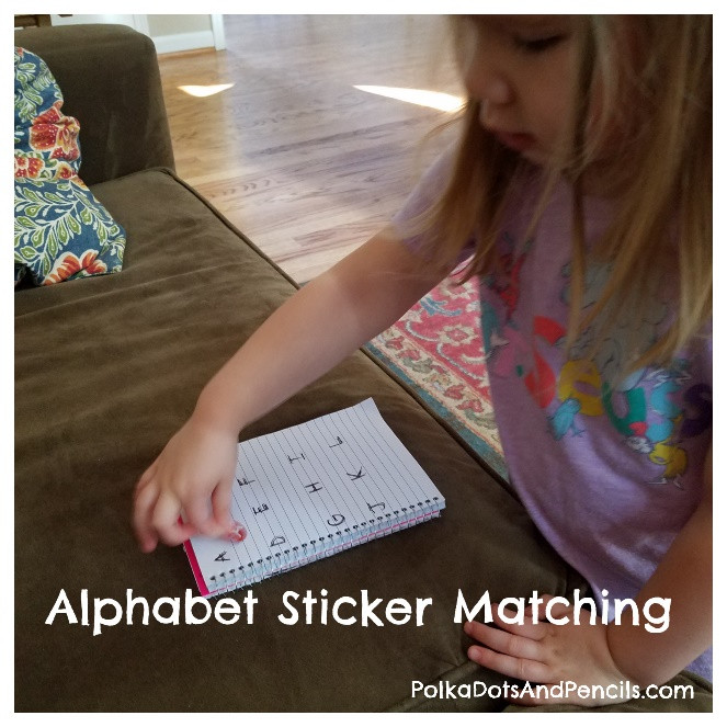 Toddler and alphabet stickers