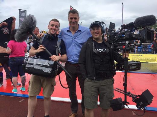 Myself and steadycam operator John Fry at Stoke on Trent Strongman 2017
