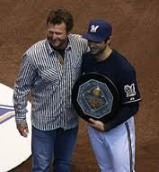 The birth of his child is a bigger deal than receiving his MVP award from hall of famer Robin Yount