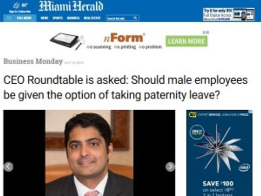 Male CEOs Are Split on the Importance of Paternity Leave