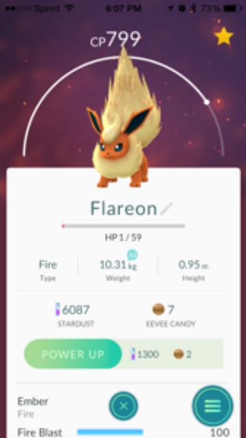 My son's favorite Pokemon Go so far!