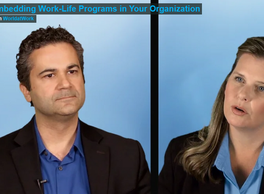 Embedding Work-Family Programs in Your Organization