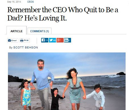 My Wall Street Journal Interview with Max Schireson on Prioritizing Family and Career
