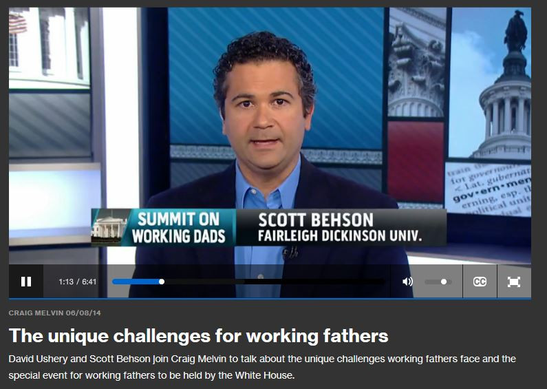 And, now, the latest fathers, Work and Family news