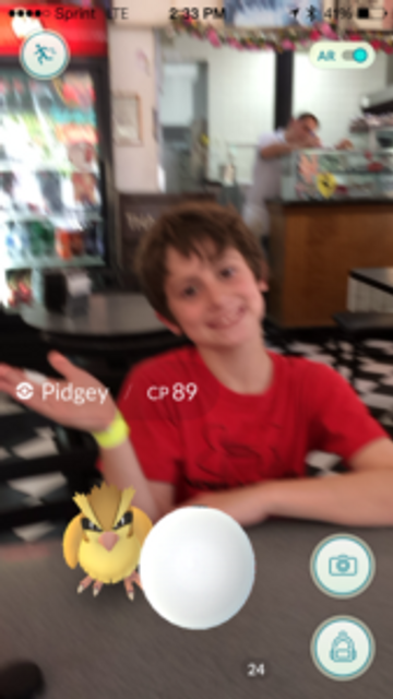 Having fun with my son and Pokemon Go