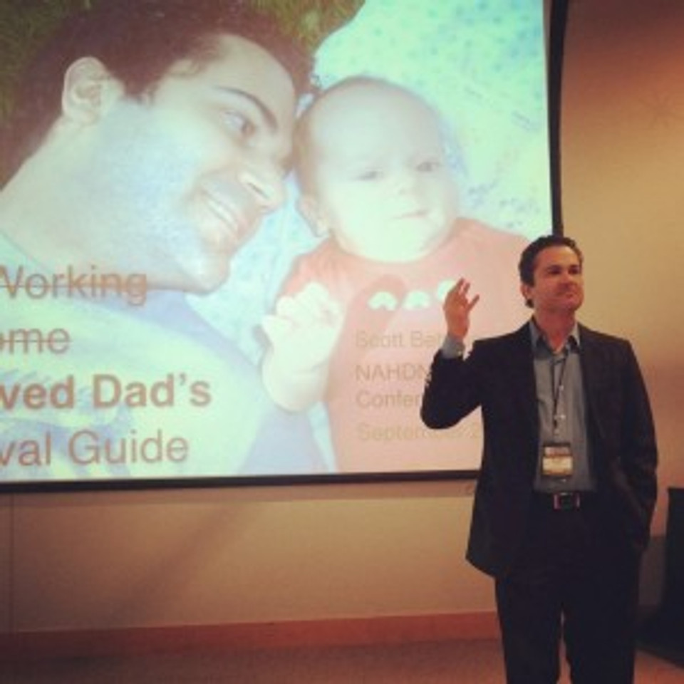 Discussing involved fatherhood during my opening keynote address at the NAHDN Convention