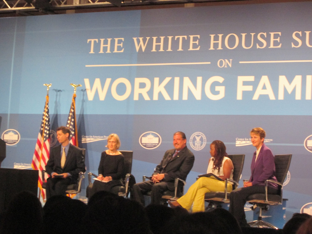 EY's CEO Mark Weinberger (center) spoke about his personal work-family balance priorities at the White House Summit on Working Families