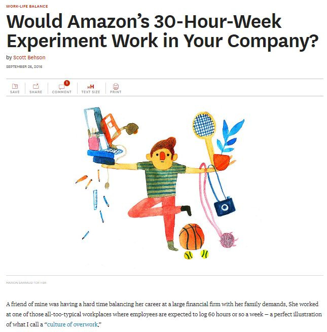 My article on Amazon's 30-hour work week experiment