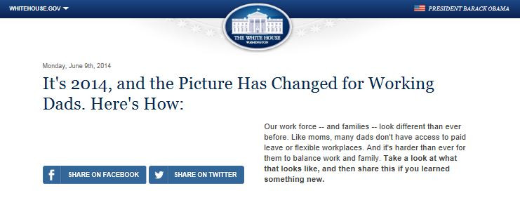 From the White House and the Department of Labor: The Challenges Faced by Working Dads in 2014