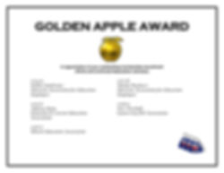 GOLDEN APPLE AWARD five years of awardee