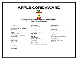 APPLE CORE AWARD five years of awardees