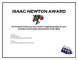 ISAAC NEWTON AWARD five years of awardee