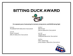 SITTING DUCK AWARD five years of awardee