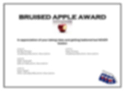 BRUISED APPLE AWARD five years of awarde
