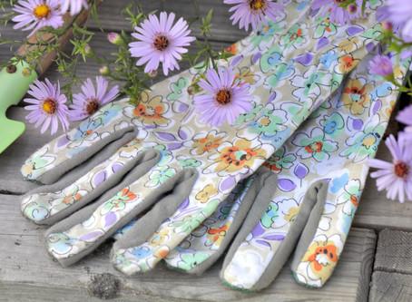 Texting With Garden Gloves