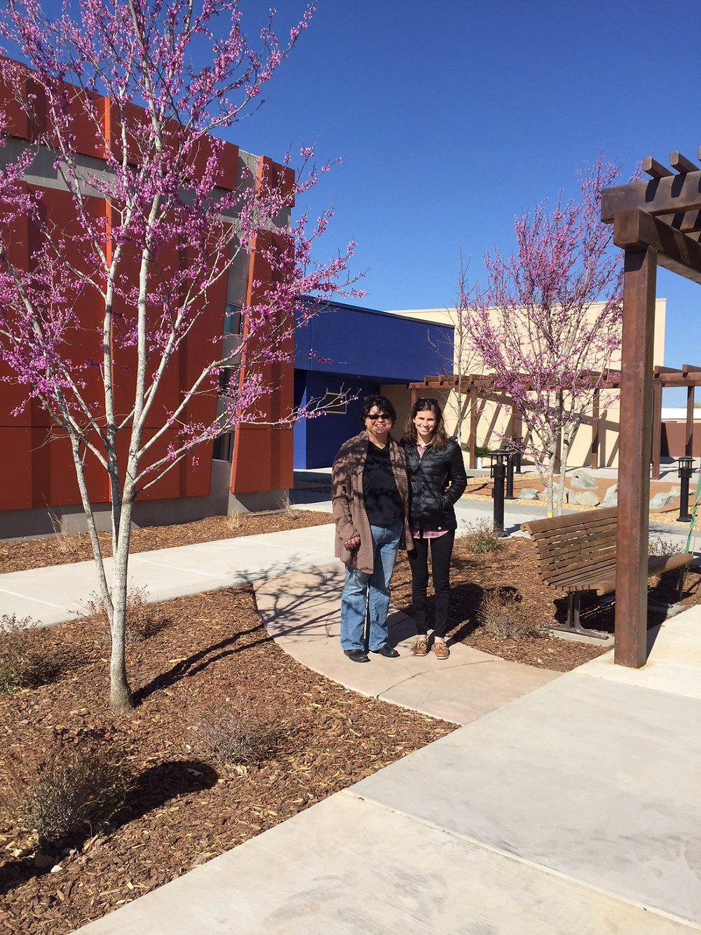 Monica and Rachel outside the new Provincial Archive in Albuquerque, NM.