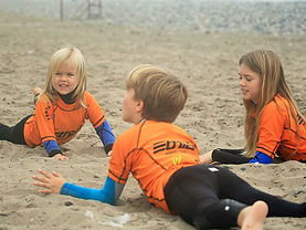Surf lessons for children