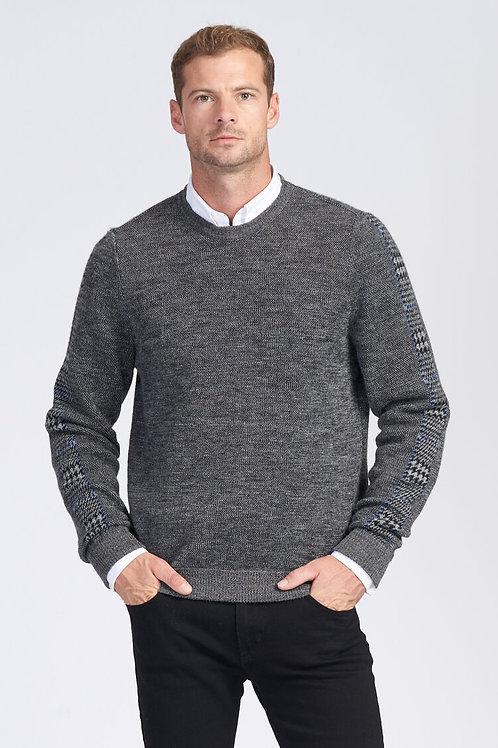【男装】100%羊驼毛千鸟格针织衫