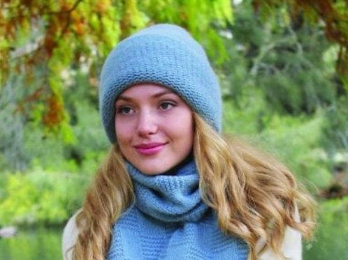 100%羊驼毛针织帽