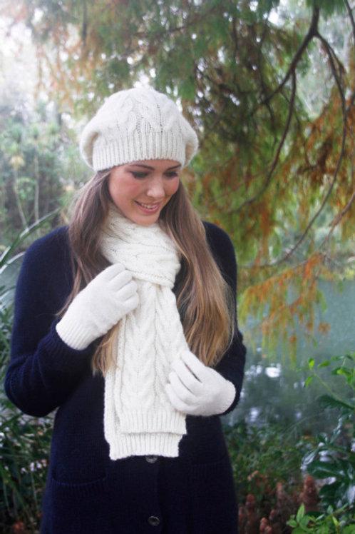 100%羊驼罗纹围巾