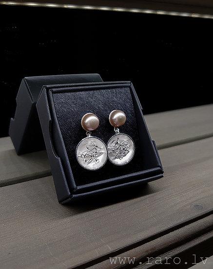 Pērļu un sudraba 925 proves auskari