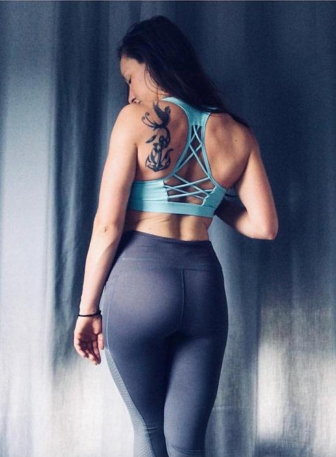 Luxe Crossback Sports Bra | Mint