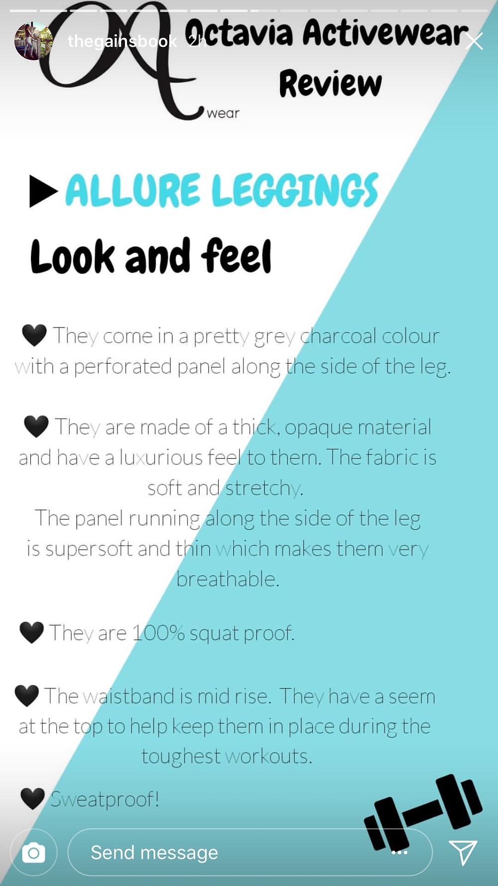 Octavia ACtivewear squat proof leggings review